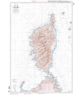 7025 L - Ile de Corse - Carte marine papier