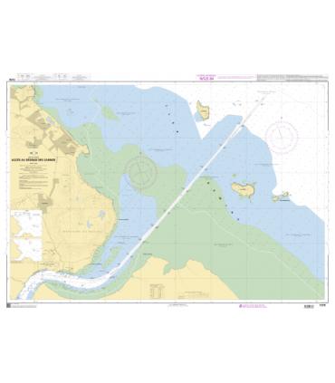 7378 - Accès au Dégrad des Cannes - carte marine Shom papier