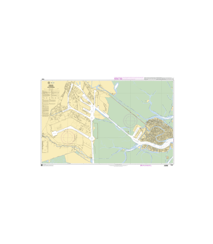 7226 - Venezia - Porto Marghera - Carte marine papier