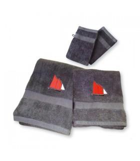 Ensemble de serviettes brodées