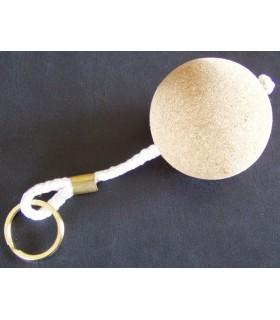Porte-clés boule liège