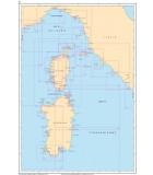 Méditerranée Golfe de Gênes - Corse - Sardaigne - Carte marine papier