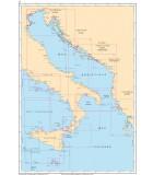 Méditerranée Mer Tyrrhénienne - Mer Ionienne - Mer Adriatique - Croatie - Carte marine papier