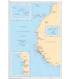 Atlantique Acores - Côte Ouest Afrique - Carte marine papier