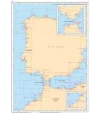 Atlantique Méditerranée Espagne Portugal Gibraltar - Carte marine papier