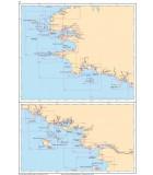 Atlantique - Ouessant à Groix - Carte marine papier