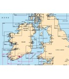 Mer d'irlande - Carte marine papier