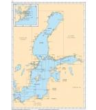 Mer Baltique - Carte marine papier