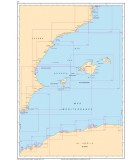 Méditerranée Côte Est Espagne - Iles Baléares - Algérie - Carte marine papier