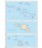 Polynésie française - Carte marine papier