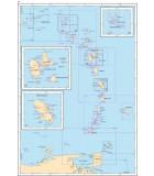 Petites Antilles - Carte marine papier
