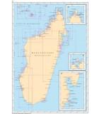 Madagascar - Archipel des Comores - Carte marine papier
