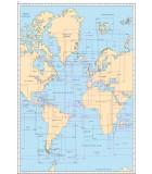 Océan Atlantique : Routiers, cartes océaniques - Carte marine papier