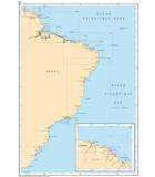 Brésil - Guyane - Carte marine papier